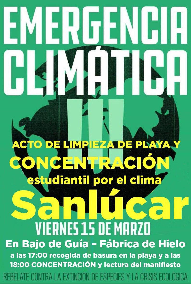 IU anima a los sanluqueños y sanluqueñas a secundar las movilizaciones contra el cambio climático