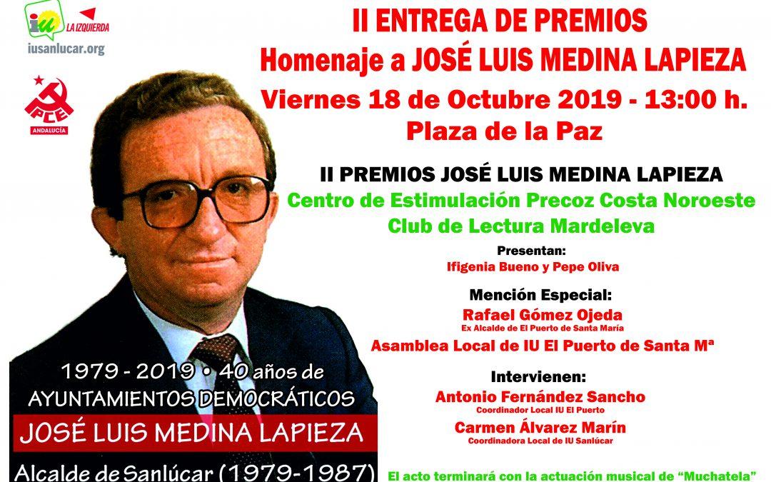 IU conmemora los 40 años de ayuntamientos democráticos en el II Homenaje a José Luis Medina Lapieza