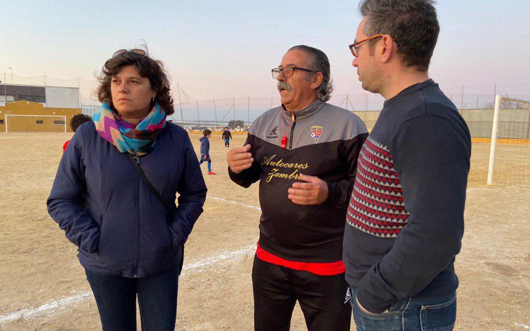 IU apoya las demandas del fútbol base sanluqueño