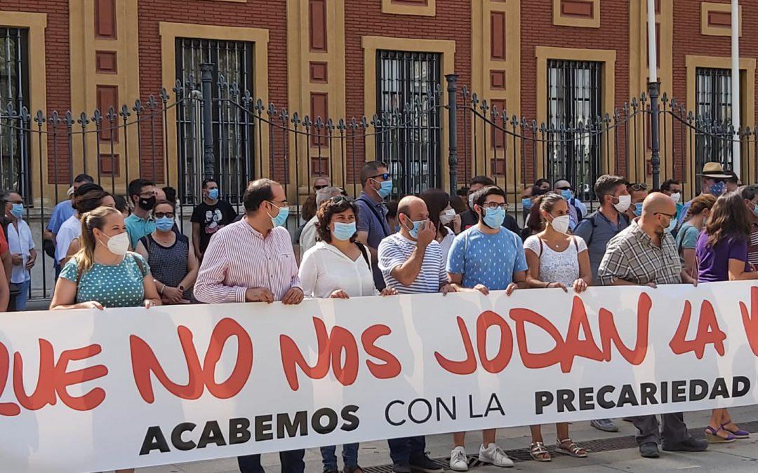 IU Sanlúcar reclama en Sevilla más inversión para los planes de empleo
