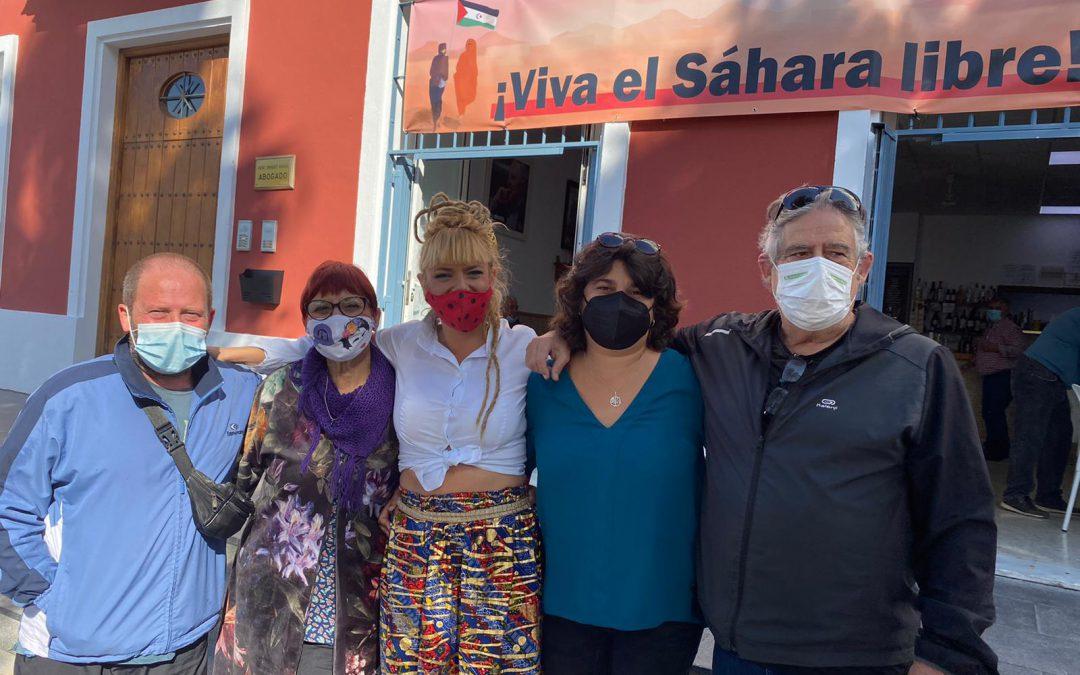 IU Sanlúcar muestra su respaldo a la asociación 'La Jaima' en apoyo al pueblo saharaui