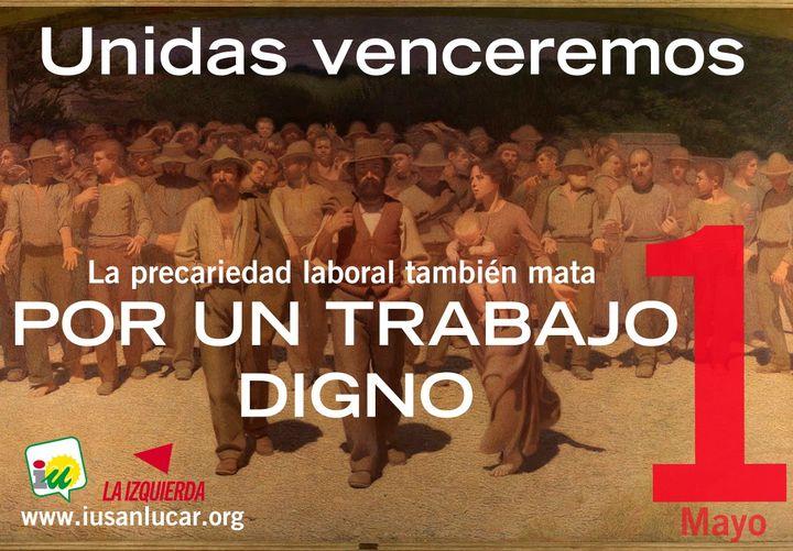 IU Sanlúcar llama a secundar la manifestación del 1 de mayo