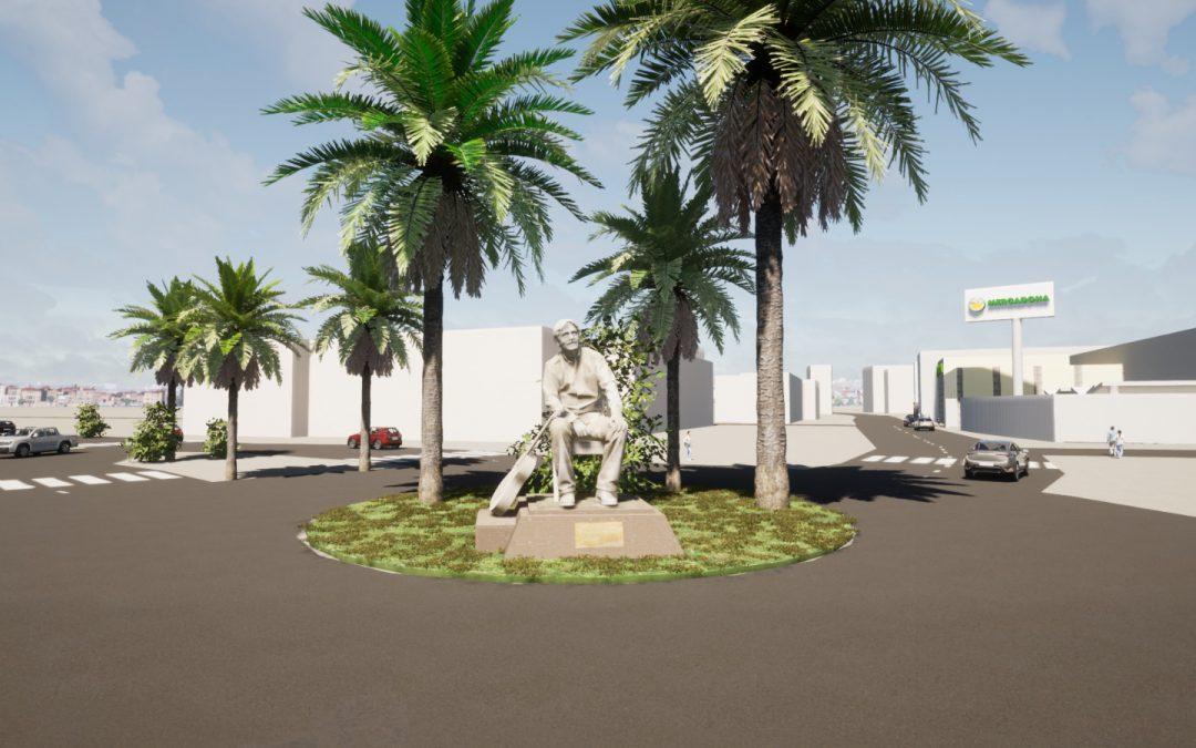 IU lleva a pleno reconocer la figura de Manolo Sanlúcar instalando una escultura en una rotonda